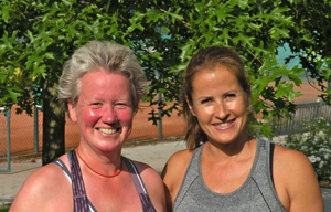 links Friederike Felbeck, rechts Tanja Le Kim-Poeschke